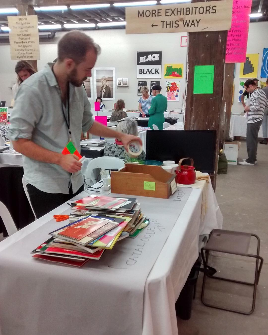Photograph of the Frontyard table at Volume 2017 Book Fair